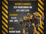 Transformers Birthday Party Invitations Template Transformers Bumblebee Digital Birthday Invitation