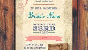 Travel themed Wedding Shower Invitations Travel Wedding Shower Invitation by Conteurco On Etsy
