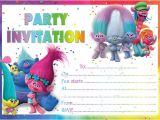 Trolls Party Invitation Template 10 X Trolls Birthday Party Invitations or Thank You Cards