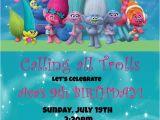 Trolls Party Invitation Template Trolls Birthday Invitation Invitations Birthday Trolls