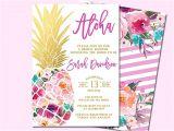 Tropical Bridal Shower Invitations Templates Best 25 Hawaiian Invitations Ideas On Pinterest