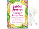 Tropical Bridal Shower Invitations Templates Tropical Bridal Shower Invitation Pineapple Bridal