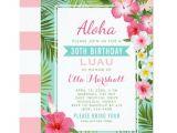 Tropical Party Invitation Template Birthday Luau Invitations Tropical Flowers Zazzle Com