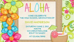 Tropical Party Invitation Template Luau Birthday Invitation Sweet 16 Tropical Hawaiian Hula Party