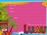 Tropical Party Invitation Template Party Planning Center Free Printable Hawaiian Luau Party