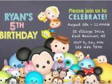Tsum Tsum Party Invitations Diy Print Invitation Tsum Tsum Invite Tsum Tsum Party