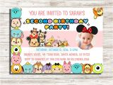 Tsum Tsum Party Invitations Tsum Tsum Birthday Invitation Tsum Tsum by Digitalfactoryart
