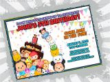 Tsum Tsum Party Invitations Tsum Tsum Birthday Invitation Tsum Tsum Party Tsum Tsum