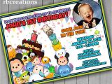 Tsum Tsum Party Invitations Tsum Tsum Birthday Invitations Tsum Tsum Printables Tsum
