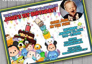Tsum Tsum Party Invitations Tsum Tsum Birthday Invitations Tsum Tsum Printables Tsum