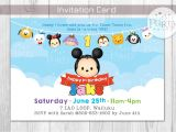 Tsum Tsum Party Invitations Tsum Tsum Inspired Birthday Invitation Digital Copy No