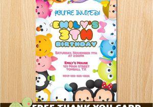 Tsum Tsum Party Invitations Tsum Tsum Invitation Tsum Tsum Birthday Invitation Tsum Tsum