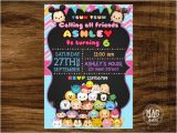 Tsum Tsum Party Invitations Tsum Tsum Invitation Tsum Tsum Birthday Party Invitation