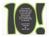 "Turning 10 Birthday Invitation Wording 10th Birthday Invite 5"" X 7"" Invitation Card"