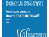 Turning 10 Birthday Invitation Wording 10th Birthday Party Invitation Wording