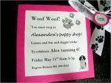 Turning 10 Birthday Invitation Wording Aristocrafty Puppy Birthday Party