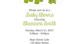 Turtle Invitations for Baby Shower Turtle Baby Shower Birthday Invitations Custom Design