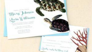 Turtle Wedding Invitations Sea Turtle Wedding Invitations Beach Wedding by
