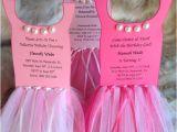 Tutu themed Baby Shower Invitations Ballerina Tutu Party Invitation Set Of 8 Via Etsy