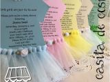 Tutu themed Baby Shower Invitations Items Similar to Tutu Invitations for Tutu themed Baby