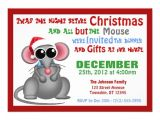 Twas the Night before Christmas Party Invitation All but the Mouse Christmas Dinner Invitations 5 Quot X 7