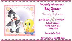 Tweety Bird Baby Shower Invitations Custom Baby Tweety Bird & Sylvester Girl Shower