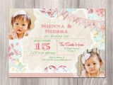 Twin Girl Birthday Party Invitations Twins Birthday Invitation Twin Girls Birthday Invitation