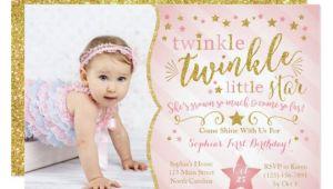 Twinkle Twinkle Little Star Birthday Invitation Template Free Twinkle Twinkle Little Star Birthday Invitation Zazzle