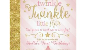 Twinkle Twinkle Little Star Birthday Invitation Template Twinkle Twinkle Little Star Birthday Invitation Zazzle Com