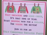 Ugly Christmas Sweater Party Invites Invitations Ugly Sweater Party Christmas by