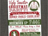 Ugly Christmas Sweater Party Invites Ugly Sweater Party Invitations