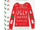 Ugly Holiday Sweater Party Invitation Template Free Festive Ugly Sweater Christmas Party Invitations Zazzle Com
