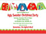 Ugly Holiday Sweater Party Invitation Template Free Lady Scribes Tis the Season for Ugly Sweaters
