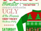 Ugly Holiday Sweater Party Invitation Template Free Sweeten Your Day events 39 Be Ugly 39 Christmas Party