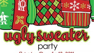 Ugly Holiday Sweater Party Invitation Template Free Ugly Christmas Sweater Invitation