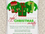 Ugly Sweater Christmas Party Invitations Wording Free Printable Ugly Christmas Sweater Party Invitations