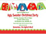 Ugly Sweater Christmas Party Invitations Wording Lady Scribes Tis the Season for Ugly Sweaters