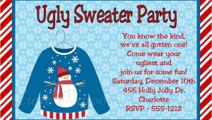 Ugly Sweater Christmas Party Invitations Wording Ugly Christmas Sweater Invitation Wording Happy Holidays
