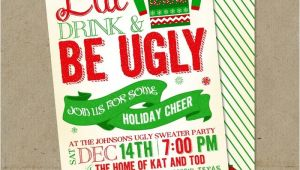 Ugly Sweater Party Invites Ugly Sweater Invitations Christmas Party Diy