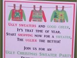 Ugly Sweater Party Invites Wording Invitations Ugly Sweater Party Christmas Set Of 10
