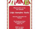 Ugly Sweater Party Invites Wording Ugly Christmas Sweater Party Invitations