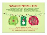 Ugly Sweater Party Invites Wording Ugly Sweater Christmas Party Invitation