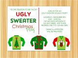 Ugly Sweater Party Invites Wording Ugly Sweater Christmas Party Invitations