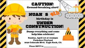 Under Construction Birthday Party Invitations Under Construction Party Lynlee 39 S