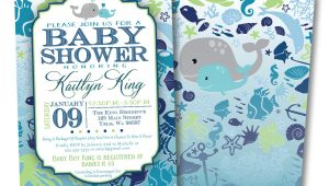 Under the Sea Baby Boy Shower Invitations Under the Sea Baby Shower Invitation Diy by sincerelyjennifer