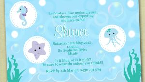 Under the Sea Baby Shower Invitation Templates Under the Sea Baby Shower Invitations – Gangcraft