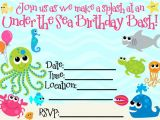 Under the Sea Birthday Invitation Template Free Best Ideas About Printables Edited Printables Change and