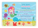 Under the Sea Birthday Invitation Template Free Under the Sea Birthday Invitation Choose Mermaid You Print