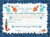 Under the Sea Birthday Invitation Template Free Under the Sea Birthday Invitations Ideas Bagvania Free