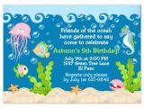 Under the Sea Birthday Invitation Template Free Under the Sea Birthday Invitations Wording Free